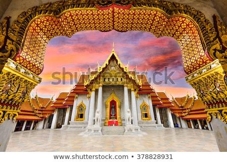 Mermer tapınak Bangkok Tayland kilise seyahat Stok fotoğraf © tang90246