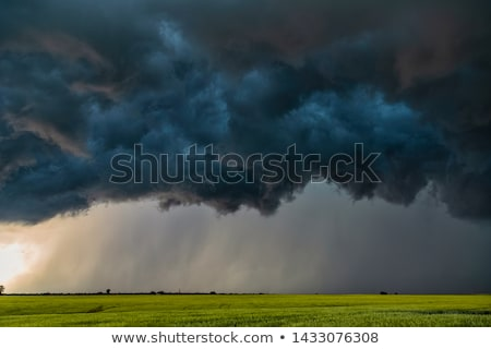 Dark thunderstorm clouds Stock photo © phakimata