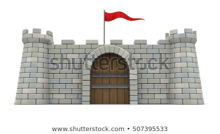 Flags on the wall of citadel. Stock photo © ultrapro