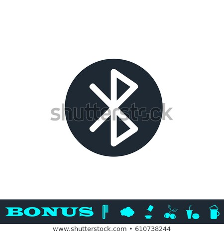 Metálico bluetooth ícone vetor projeto negócio Foto stock © Pinnacleanimates