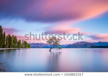 Mooie landschap reflectie meer hemel water Stockfoto © gabor_galovtsik