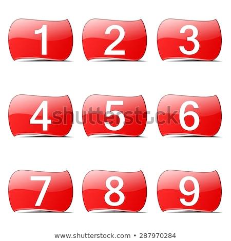 sayılar · kırmızı · vektör · düğme · ikon · dizayn - stok fotoğraf © rizwanali3d