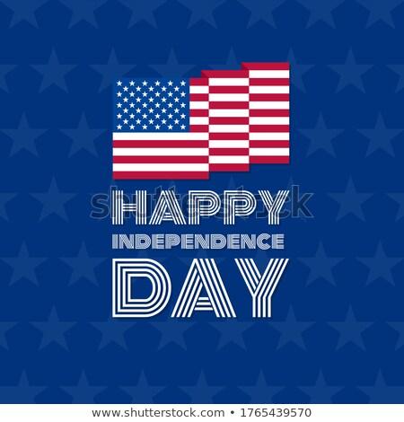 день Соединенные Штаты простой икона вектора Сток-фото © HelenStock