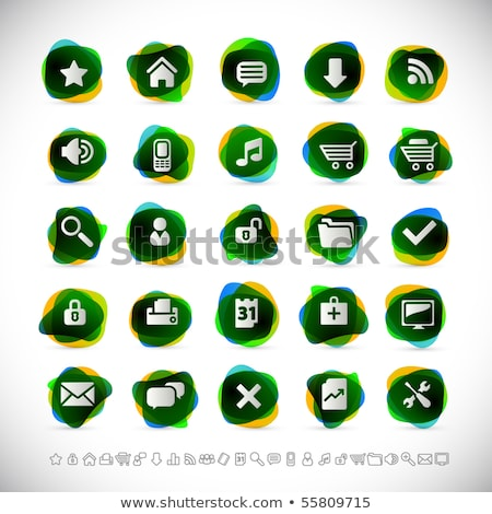 Zoom Out Green Vector Icon Design Stock photo © rizwanali3d