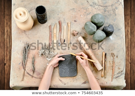 white clay pottery Stock photo © compuinfoto