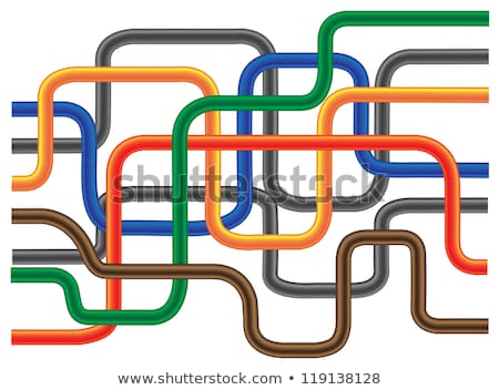 Abstract color tube like on solid background. Stock photo © teerawit