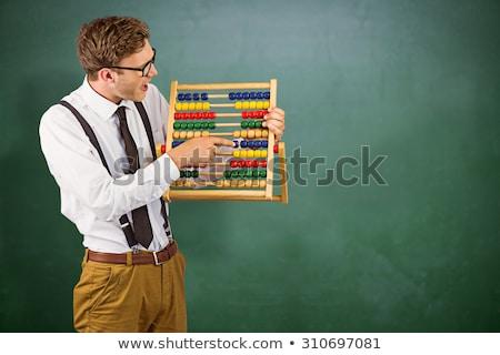 Affaires boulier gris affaires heureux shirt Photo stock © wavebreak_media