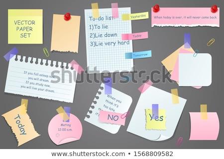 Recuerdos mensaje escribir masculina mano oficina Foto stock © fuzzbones0