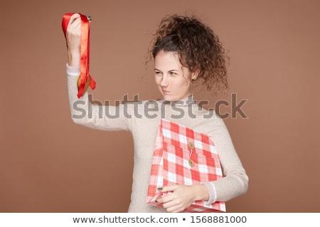 Aranan hediye mutlu kız kadın mutlu moda Stok fotoğraf © alphaspirit