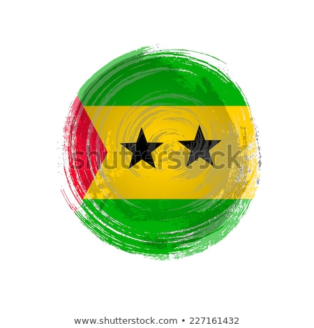 Flag of Sao Tome and Principe painted with brush Stock photo © tang90246