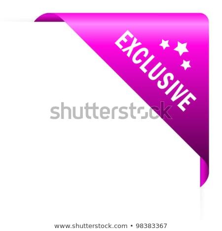Exkluzív ajánlat rózsaszín vektor gomb ikon Stock fotó © rizwanali3d
