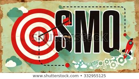 Foto stock: Palabra · grunge · anunciante · medios · de · comunicación · social · optimización