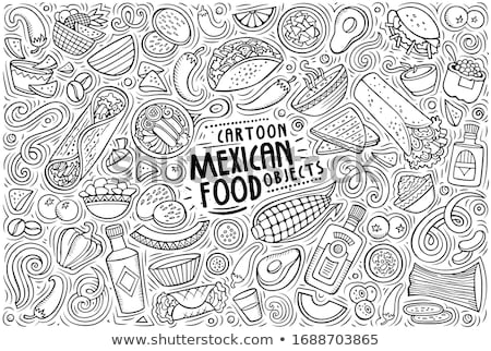 doodle vektor mexico stock photo © netkov1