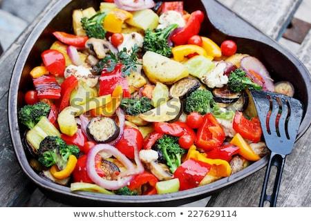 zöldségek · pörkölt · szeletek · padlizsán · paprikák · krumpli - stock fotó © zhekos
