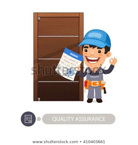 Worker and Door Quality Assurance Stock photo © Voysla