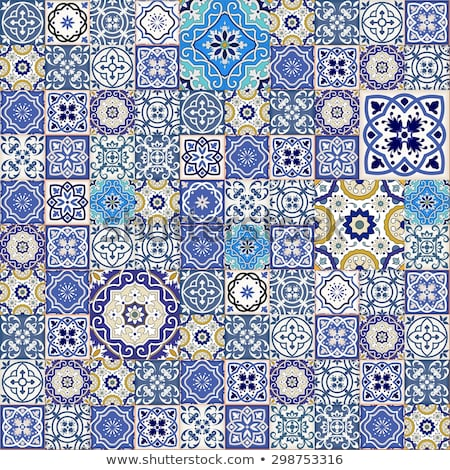 Stock photo: Mosaic floor pattern with vintage decoration