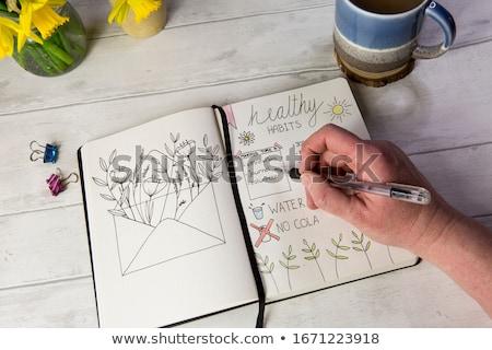 Kalem organizatör çalışma büro kâğıt Stok fotoğraf © simply