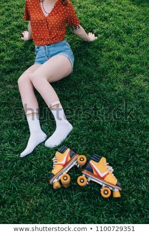 Low Angle Shot of Roller Skating Girl Stock photo © dash