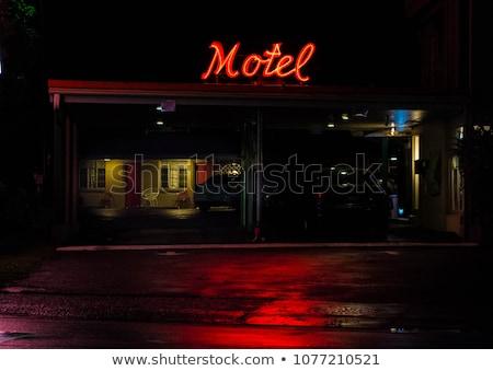 мотель стилизованный пустыне здании пейзаж дизайна Сток-фото © tracer