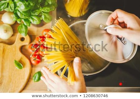 boiled pasta stock photo © yelenayemchuk