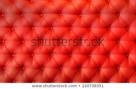 Stok fotoğraf: Doku · bağbozumu · kırmızı · deri · düğmeler