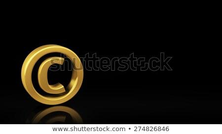 Derechos de autor negro Slide oro símbolo reflexión Foto stock © timbrk