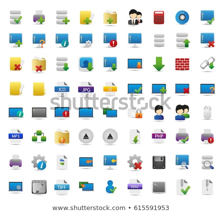 computer desktop icon Stock photo © vector1st