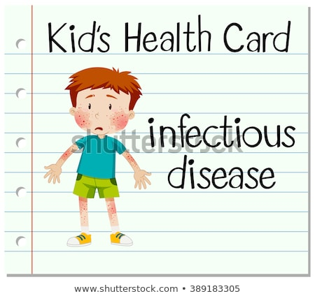 Health card with boy having infectious disease Stock photo © bluering