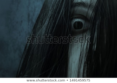 Scary женщины зомби белый фон ходьбе Сток-фото © bluering