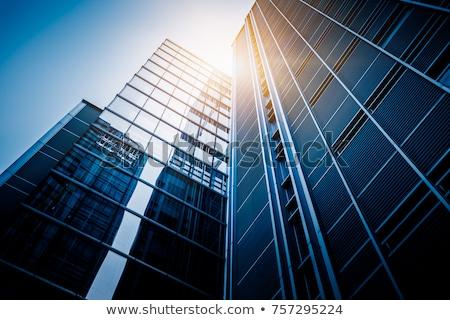 verre · mur · banque · bâtiment · bureau - photo stock © pedrosala