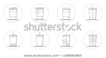 Pulsanti ghiacciato caffè illustrazione bianco sfondo Foto d'archivio © bluering