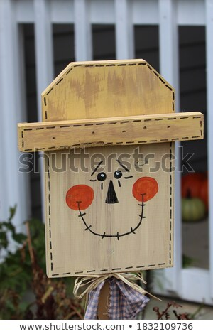 Scarecrow made of wood Stock photo © bluering