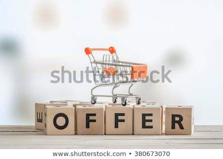 Special offer on wooden table Stock photo © fuzzbones0