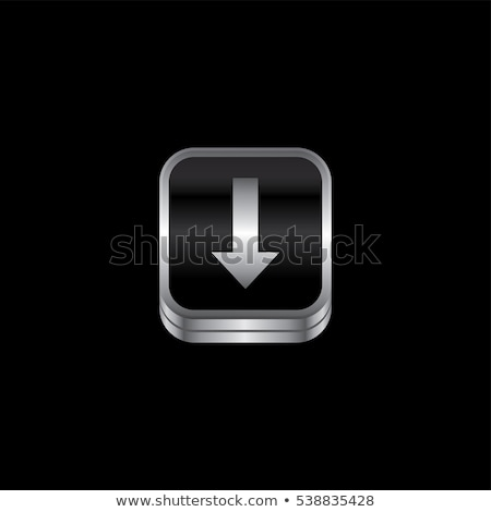 download metal plate theme icon button Stock photo © vector1st