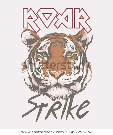 A head of a roaring tiger Stock photo © bluering
