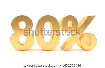 80 · financière · vente · nombre · acheter · face - photo stock © dzsolli