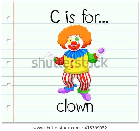 Letra c circo ilustração crianças criança fundo Foto stock © bluering