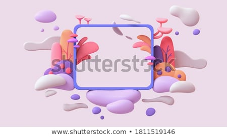 A garden with red mushrooms Stock photo © bluering