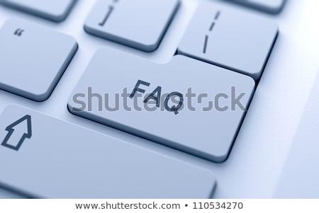 Tastiera faq chiave laptop tecnologia Foto d'archivio © Oakozhan