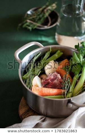 Et suyu bileşen kış tavuk et diyet Stok fotoğraf © M-studio