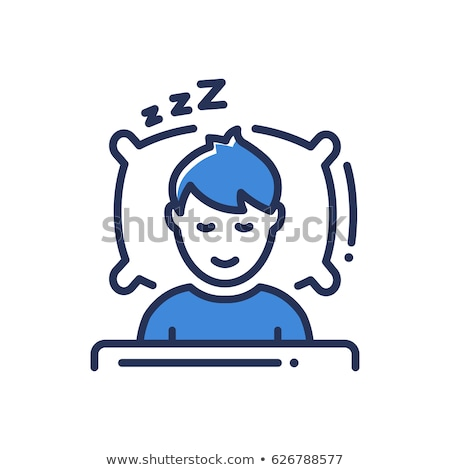 Sleep Man Icon Stock photo © sdCrea