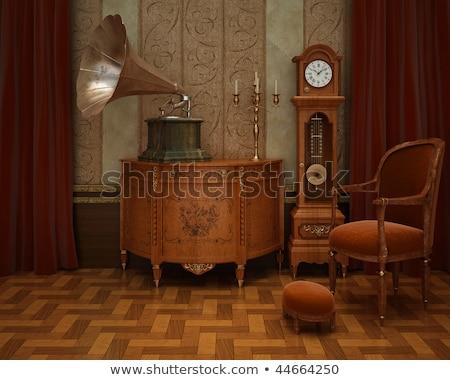 gramofon · müzik · ses · kayıt · ikon · sanat · klibi - stok fotoğraf © bluering