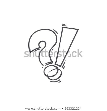 soru · işareti · konuşma · vektör · soyut · okul · dizayn - stok fotoğraf © orson
