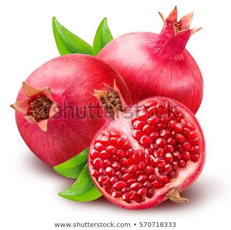 ripe pomegranate fruit isolated stock photo © deandrobot