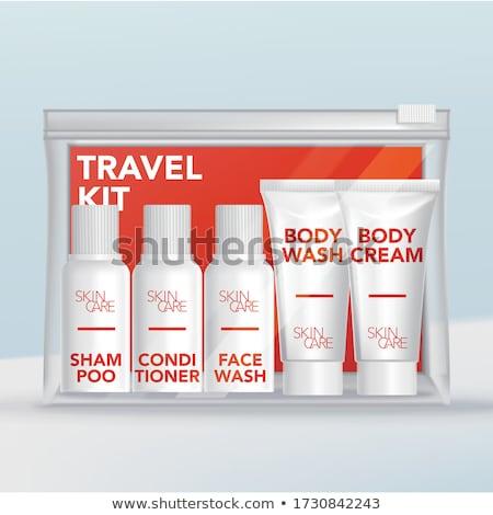 Orange toiletry bag Stock photo © luissantos84