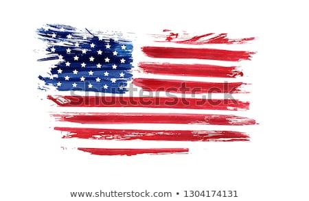 Resumen acuarela bandera de Estados Unidos cuarto feliz fondo Foto stock © SArts