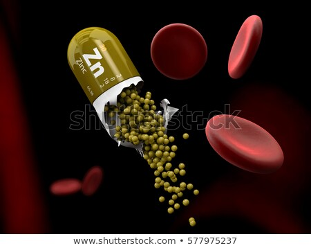 illustration of zinc mineral capsule dissolves in the stomach stock photo © tussik