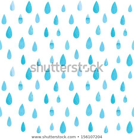 Seamless ornament with rain drops Stock photo © snowwincat