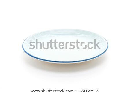 White plate with blue rim Stock photo © Digifoodstock