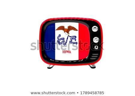 Bayrak tv bilgisayar ekranı bilgisayar izlemek mac Stok fotoğraf © Bigalbaloo